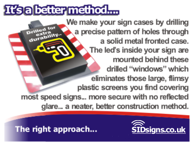 how slow down sid sign cases are manufactured